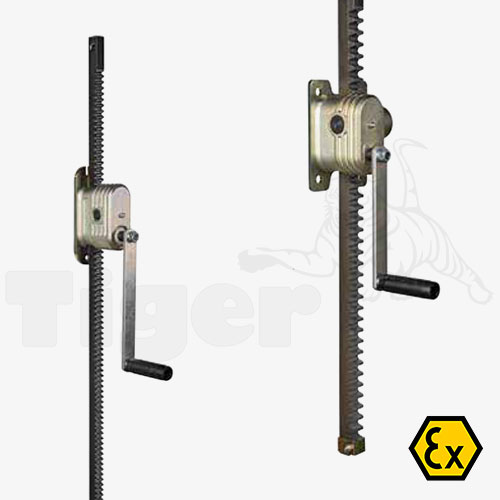 Zahnstangenwinde ATEX Schneckengetriebe