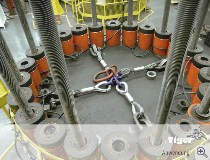 Hydraulik im Einsatz