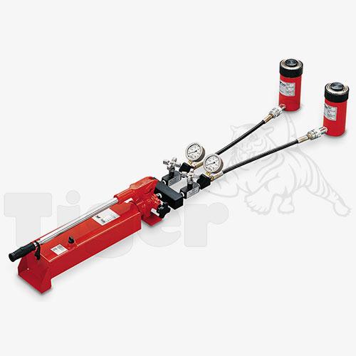 Handpumpe mit 2 Hydraulikzylinder