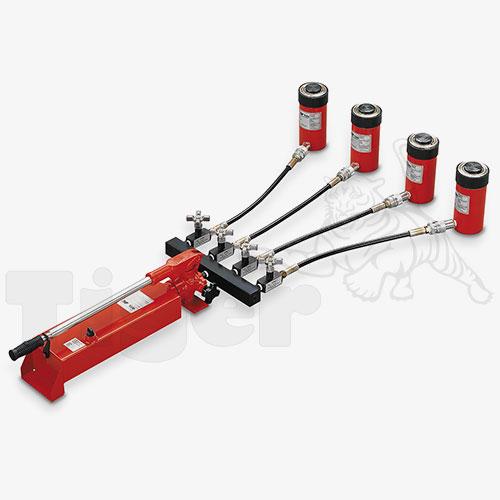 Handpumpe mit 4 Hydraulikzylinder
