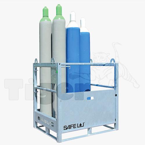 Gasflaschenpalette Auffahrrampe