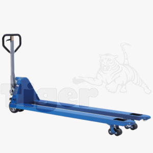 Handgabelhubwagen mit langen Gabeln